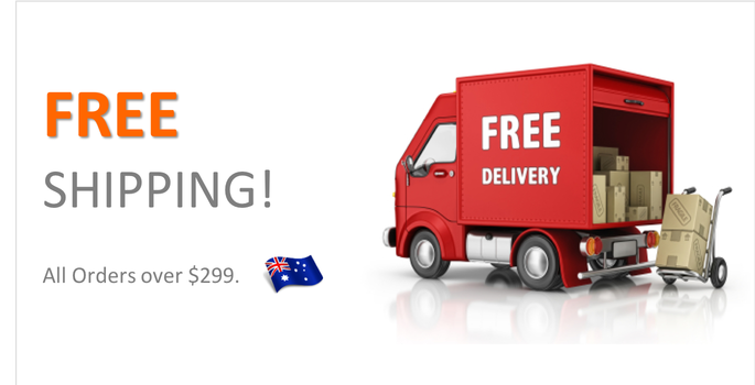 Free Shipping all orders over $299