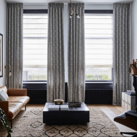 Translucent DIY Roman Blinds Online with Curtains