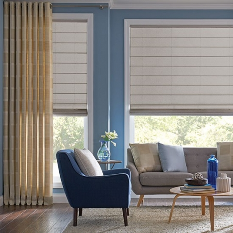 Translucent DIY ROman Blinds Online with Curtains Lounge