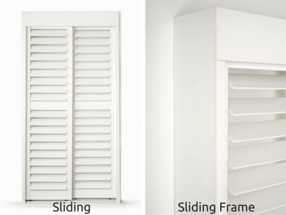 PVC Plantation Shutters Online Sliding Doors