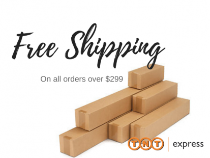 Free Shipping on all sunscreen roller blinds online orders over $299